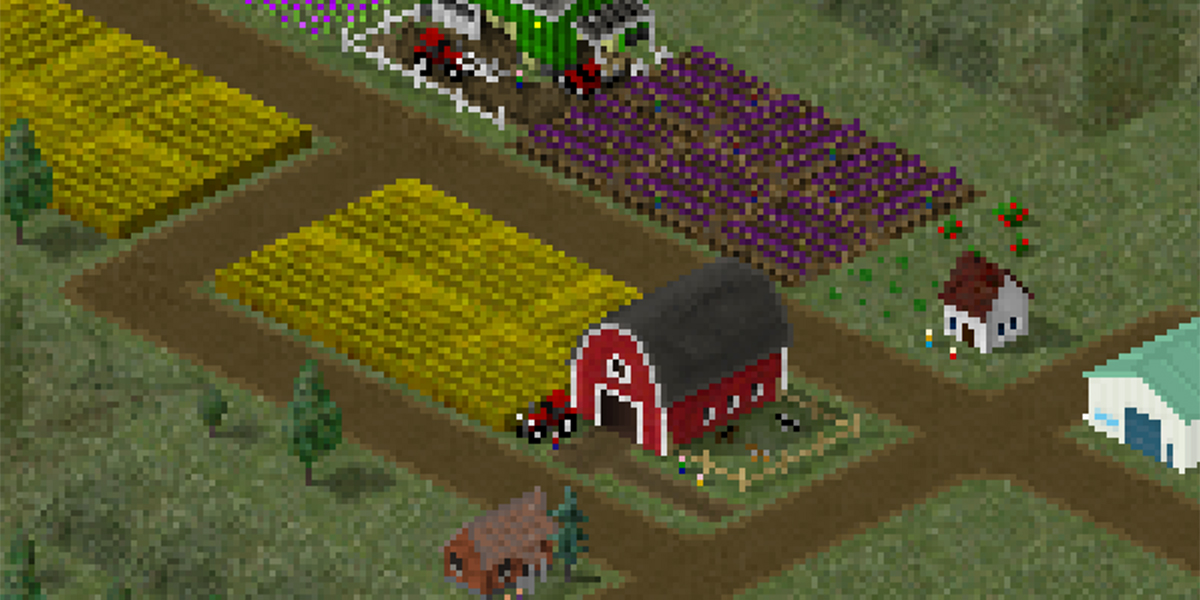 Image of some pixelated farmland